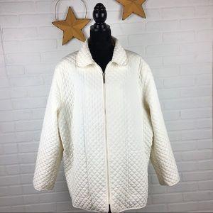 White Stag Plus Size Cream Colored Coat size 3x